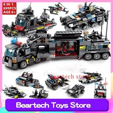 <b>8pcs</b>/<b>lot City</b> Police <b>SWAT</b> Truck Building Blocks Sets Ship ...