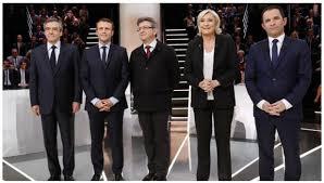 Imagini pentru imagini sondaj cu candidatii Franta