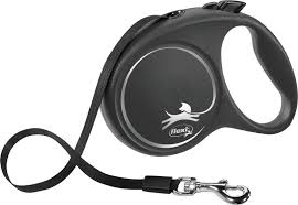 12241 <b>flexi BLACK DESIGN</b>, cord leash, XS: 3 m, black