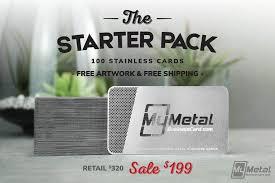 Starter Pack | World Leader in <b>Metal Business Cards</b>