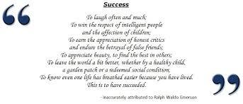 definition of success essay essay of success    success emerson definition
