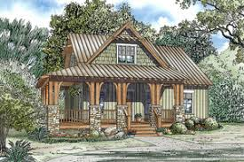 Cabin Plans   Houseplans comcharming rustic cottage   front porch  bedrooms and   bathrooms