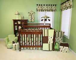 stunning baby nursery room decor ideas with green circlep pattern excerpt dining room curtains baby room lighting ideas