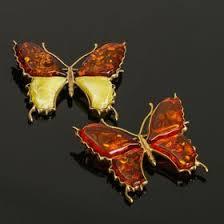 """<b>Брошь</b> """"<b>Янтарь</b>"""" бабочка большая в бронзе (2691924) - Купить по ..."""