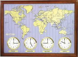 <b>Настенные часы Rhythm CMW902NR06</b> карта мира купить по ...