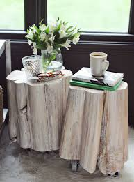 diy tree stump side tables awesome tree trunk table 1