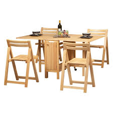 Space Saving Kitchen Table Sets Linon Space Saver 5 Pc Folding Table And Chair Set At Hayneedle