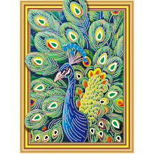 Shop <b>5D DIY</b> Special Shaped <b>Diamond Painting</b> Peafowl Cross ...
