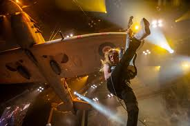 <b>Iron Maiden's</b> Janick Gers Accidentally Launches Guitar Into Crowd