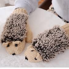 <b>Hot</b>-sale Women Girls <b>Cute</b> Cartoon Hedgehog <b>Gloves Winter Warm</b> ...
