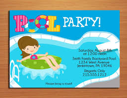 printable birthday pool party invitations drevio swim printable birthday pool party invitations