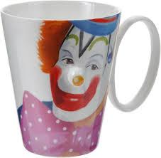 <b>Кружка</b> Карамба <b>клоун</b> желтый нос, разноцветный