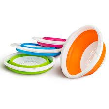 Дуршлаг б ручек складной Идея 21 9см силикон пластик ...