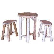 729331272336 lakeland mills dining furniture 3 piece balcony height patio dining set cf2723 balcony height patio dining furniture