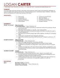 Sales Associate Level Resume Sample Perfect Resume retail sales associate resume examples SinglePageResume com