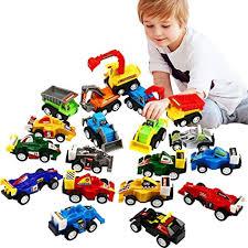 Amazon.com: Pull Back <b>Car</b>, <b>20 Pcs</b> Assorted Mini Truck <b>Toy</b> and ...