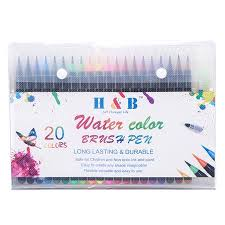 H&B <b>20 Colors</b> Watercolor Brush Pen Set <b>Art</b> Markers Drawing ...