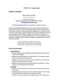 model resume for marketing executive samples examples resume marketing s executive