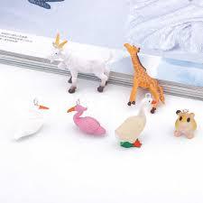 2pcs Cute Simulation Grey Rabbit Micro Landscape Decor <b>Diy</b> ...