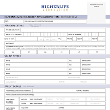 application forms founded by strive and tsitsi masiyiwa higherlife foundation capernaum scholarship application form tertiary