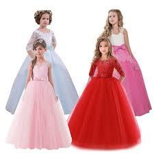 2018 New Brand Flower <b>Girls Dress</b> Teenager <b>Princess Wedding</b> ...