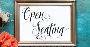 OPEN SEATING <b>Sign</b>, <b>Wedding</b> Seat <b>Sign</b>, Pick a Seat Print ...