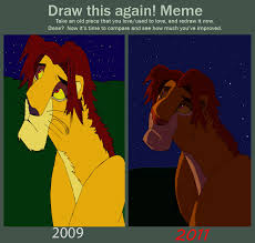 Meme: Before and After - Teen Simba by Rohad on DeviantArt via Relatably.com