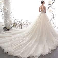 Illusion Champagne Pierced Wedding Dresses <b>2019</b> A-Line ...