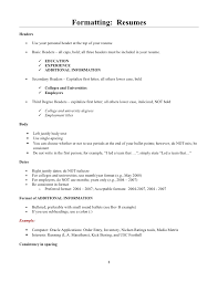 beverly b  student guide to resumes and cover letters      formatting  resumes headers