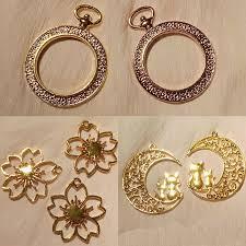 <b>5pcs</b>/lot Flower <b>Epoxy</b> UV Jewelry <b>Filling</b> Box Bookmark Copper ...