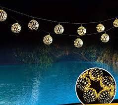 AMZSTAR Metal String Lights, Moroccan Ball ... - Amazon.com