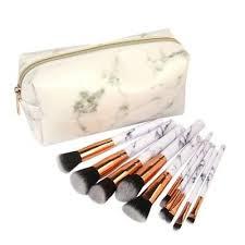 <b>10 Pcs</b> Marble <b>Makeup Brush</b> Kit Premium <b>Makeup Brushes</b> Set ...