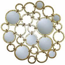 mirror wall decor circle panel: circle design wall dampeacutecor circle design wall d cor w mirror accents