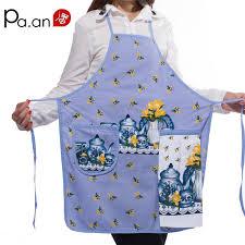 <b>New 100</b> %<b>Cotton Ladies</b> Kitchen Aprons Creative Cartoon Printed ...