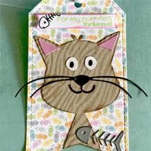 <b>Eastshape</b> Animal Cat Metal Cutting Dies for Scrapbooking 13Pcs ...