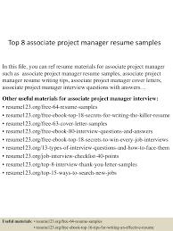 topassociateprojectmanagerresumesamples lva app thumbnail jpg cb