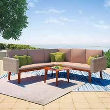 vidaXL 4 Piece Garden Sofa Set Poly Rattan Gray ... - Amazon.com