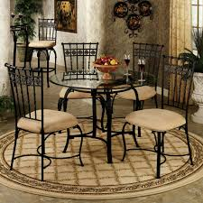 Round Dining Room Tables Black Round Kitchen Table And Chairs East West Boston Piece