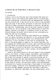 literature and the triune brain a speculative essay journal of de speculative essay example