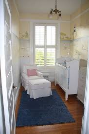 tiny yet adorable nursery maybe without the wallpaper baby room ideas small e2