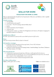 skills for work information evening portlaoise further education skills for work page 001