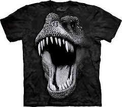 THE MOUNTAIN <b>Big Face Glow</b> Rex Kids/Boys/Child/Girls T-shirt ...