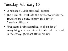 ap us history essay questions s   essay structuretuesday february  long essay question leq practice the prompt evaluate