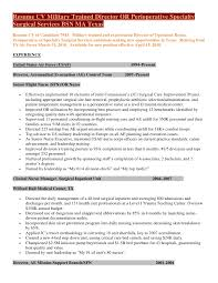 resume cv military trained director of perioperative specialty surgic…resume cv military trained director or perioperative specialtysurgical services bsn ma texasresume cv of candidate