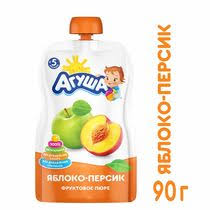 <b>Пюре Агуша</b> персик-яблоко с 5 месяцев 90 г купить с доставкой ...