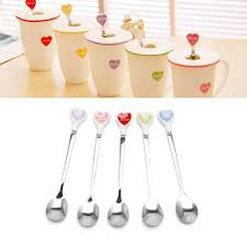 Durable Kids Resin <b>Dessert Cake Ice Cream Stainless Steel</b> Spoons ...