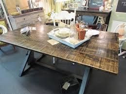 x metal top dining room