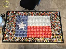 once we managed to squeeze all of the bottle caps onto the table we started gluing them down this task was tedious but it is absolutely necessary if you bottle cap furniture