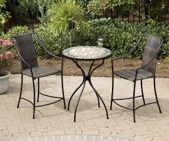 bistro set outdoor living furniture small space bistro patio sets    pc high top bistro set marble high