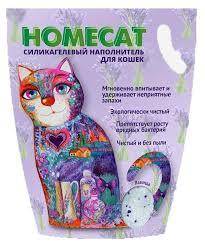 <b>Силикагелевый наполнитель</b> для кошачьих туалетов <b>Homecat</b> ...